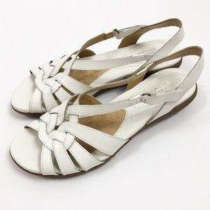 Naturalizer N5 Comfort Convey White Sandals 9M